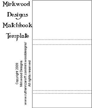 photo relating to Matchbox Template Printable referred to as Mirkwood Styles - Matchbook Template
